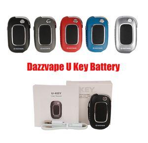 Dazzvape U-Key Battery 400mAh VV Variable Voltage 1.0 to 3.0 Ohm for 510 Thick Oil Cartridges Key Box Mod U KEY 100% Original