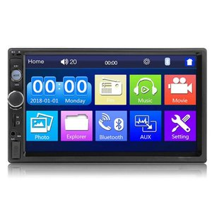 Universal 2 Din 7 Inch Touch Screen Stereo Auto Radio Multimedia Player,2Din Rearview Mirror Link FM TF Bluetooth MP5 Car Audio