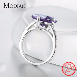 Modian Instagram New Classic Fashion 925 Sterling Silver Luxury Rings For Women Anniversary Engagement Jewelry Silver Ring Anel