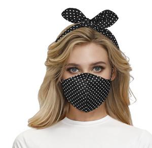 2 in 1 Face Mask Headband Ear Protective Women Gym Sports Yoga Hairband Cross Hair Band Elastic Bow Hairlace Headress GGA3707-3