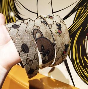 2020 Hot venda Novo Fashion Designer Carneiras para mulheres e meninas retro Turban headwraps Luxo Carta Hairband Cabelo Atacado Jóias