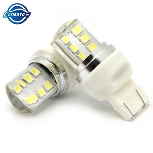2pcs 7443 T20 Auto strobe flash LED Bulb 2835 12 SMD Blink Silicone Shell 12 Chips Cold White Color 580 W21 5W W3x16q Car Light