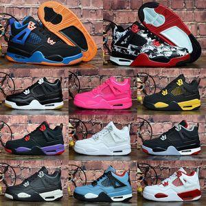 2020 Nuovo Jumpman 4 bambini scarpe da basket all'aperto per bambini Le scarpe sportive rosse Chicago ragazze del ragazzo 4s lusso tennis atletiche EUR 28-35