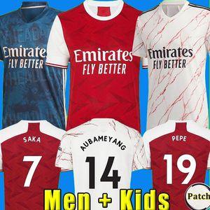 TOP 아르센 축구 유니폼 (20) (21) PEPE NICOLAS 세발 로스 HENRY GUENDOUZI 소 크라 티스 MAITLAND - NILES 티어니 2020 2021 축구 셔츠 남성 + 어린이 키트