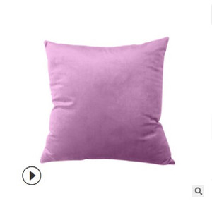 2020 Top style household Lishi plush pillow case customized solid color flannel pillow case office cushion cover PD01
