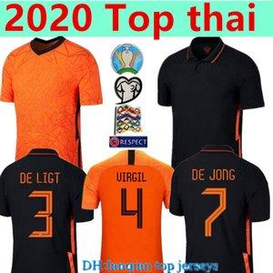 2020 2021 Futbol Formaları De Jong Wijnaldum Hollanda Futbol Takım Gömlek Virgil 20 21 Jersey De Ligt Strootman Memphis Erkekler Top Tha
