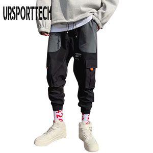 Streetwear Hip Hop Pockets Cargo Pants Men 2020 Summer Color Patchwork Casual Jogger Pants Fashion Tatical Trousers For Men