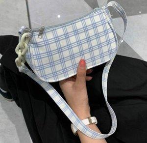 Plaid femminile Borsa sottobraccio Borsa 2020 di nuovo modo di spalla semplici femminili Borse Temperamento sacchetto bianco Casual