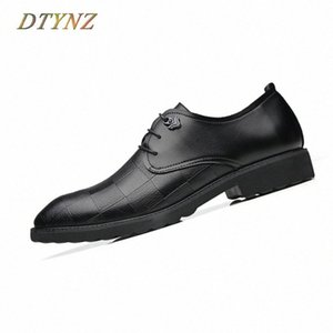 DTYNZ Modern Business Leather Shoes Men Formal Breathable Shoes New 2018 Autumn Wedding Non Slip Outsole Hard Wearing Footwear plqS#
