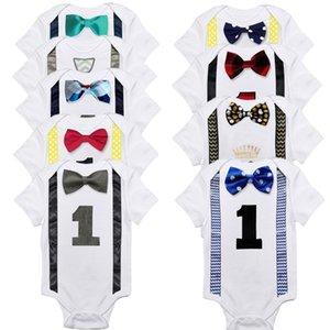 5pcs / Lot pour bébé Garçons Vêtements Romper Bodies unisexe bébé layette 12M Nouveau-né coton Roupas de filles Vêtements Unicorn bebe