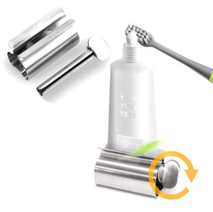 New Home Bathroom Accessories Set Rolling Toothpaste Squeezer Tube Toothpaste Dispenser Toothbrush Holder Rack Stainless Steel Dispenser