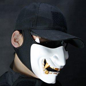 Adulte Grimace cosplay tactique vélo demi-masque Demi-masque visage tactique Masques Halloween Party Refroidir Mal Décoration stW3 n