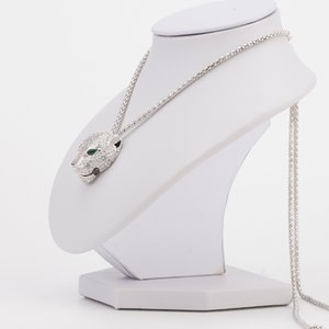 Hot Brand Fashion Jewelry High Quality Leopard Pendant Necklace Long Chain Party Pave CZ Panther Necklace Charm Wedding Gift V191128