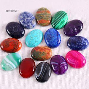Free Shipping 30x40MM Natural Stone Onyx Crystal Howlite Lapis Opal Sandstone Tiger's Eye Aventurine Bead CAB Cabochon 1Pcs