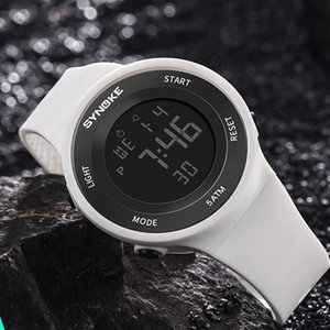Synoke Watches Hommes LED Montre numérique Man 50m Imperméable Mode Sport extérieur Montre-Bracelet Horloge avec Bracelet Relojes Hombre 2020