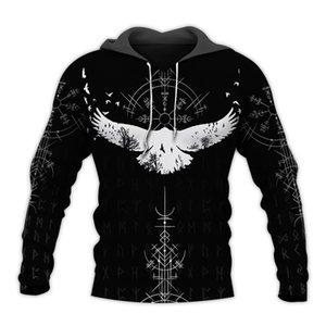 Liumaohua Viking Warrior Tattoo 3D Printed Shirts casual 3D Print Hoodies Sweatshirt Zipper Man Women Hoodies