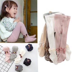 2020 0-10 Yrs Children Spring Autumn Winter Bowknot Tights Cotton Baby Girls Pantyhose Kids Infant Knitted Collant Tights