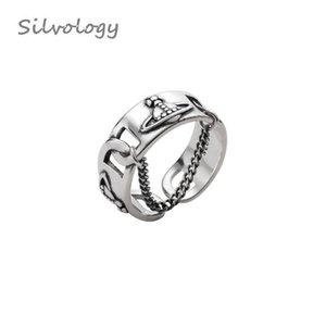 Pour 925 d'été Silvology Saturn Anneaux chaîne de bijoux femmes 2019 Weave Texture Sterling New Vintage argent cadeau Ouvrir Y200321 bbywS