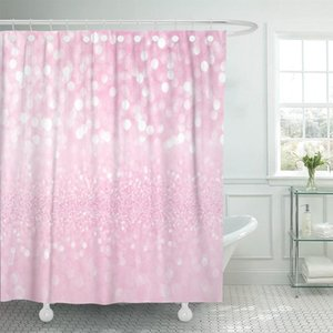 Sparkle White Pink Bokeh Christmas Abstract Beautiful Blink Bright Shower Curtains Waterproof Polyester Fabric 72 x 78 inches