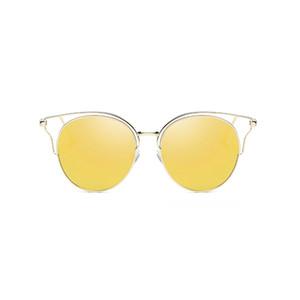 UANVIEW (gafas de sol polarizadas de metal nuevo de la manera de las mujeres UANVIEW colorido hueco gafas de sol WD0874