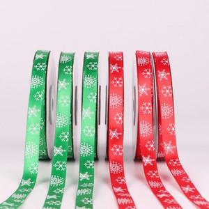 1 cm Cinta de Navidad Red Ribbon Riband Riband Decoración de vacaciones Regalo Envolver DIY CRAFT Feliz Navidad Accesorios GWC975