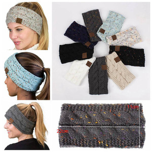 21 Farben CC Strick HäkelarbeitHeadbands Frauen Wintersport Headwrap Hair Turban-Kopf-Band-Ohr-Wärmer Beanie Cap Big Kids Hüte 50pcs