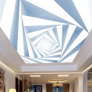 Customize 3d three-dimensional diamond modern minimalist ceiling ceiling wall custom large mural wallpaper papel de parede