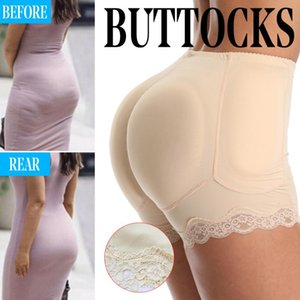 Women's Hip Lifting Panties Buttock Raising Underwear Sponge Padbody Shaping Hip Raising Wave Lace Underwear Yoga Shorts