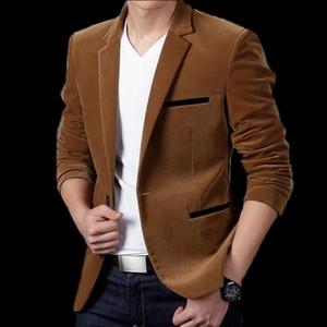VXO Mens Brand Blazer Spring men's Masculine Blazers Men Casual Solid Color Male Thick corduroy casual Blazers