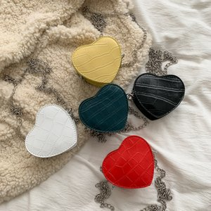 High Quality women heart-shaped Mini Shoulder bags ladies Chains women messenger bags PU leather Female Designer Crossbody bag