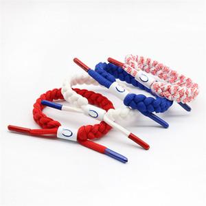 Art und Weise modisches Schnürsenkel Armband Liebes-Herz-Paar Armbänder für Männer Frauen Sport geflochtenen Seil Armband CHAM gesponnenes Armband Schmuck Geschenk