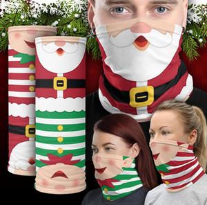 Máscara de Navidad de la bufanda pañuelos de cuello polaina Ciclismo de dibujos animados de Navidad Pañuelos mascarilla de boca Cubierta De secado rápido Pañuelo Pañuelos Tubos F91002