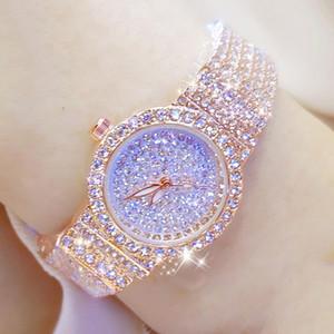 B Bee Suor Diamante Donne Orologi piccolo quadrante in oro rosa femminile Ladies in acciaio inox Blocco Bayan Kol Saati