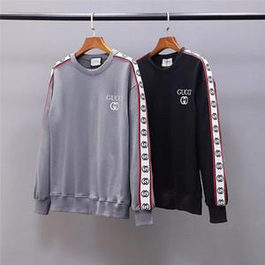 мужской свитер вышивки Tracksuit длинным рукавом Толстовка Запуск бегуны мужчин Женщины фуфайки втулки печати Тонкий пуловер дизайнеры свитеры