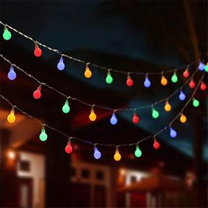10M 100 공 여러 가지 빛깔의 크리스마스 LED 문자열 조명 110V 220V IP44 야외 웨딩 파티 휴가 장식 조명 하늘에 불빛이