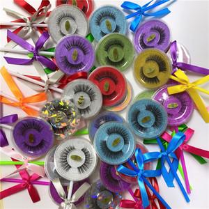 Lolipop Kutusu Üst Kalite sahte kirpik 3D Vizon kalın takma kirpik 26 stil DHL ücretsiz kirpikler 3d