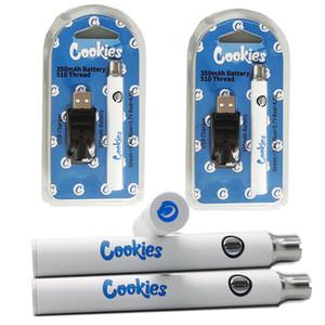 쿠키 vape 펜 배터리 USB 충전기 물집 키트 350mAh 예열 기화기 카트 배터리 가변 전압 배터리 스타터 키트 포장