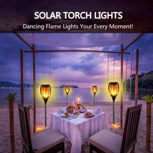 33LEDs Solar Flame Light Lamp Flickering Waterproof Garden Decoration Landscape Lawn Lamp Path Lighting Torch Outdoor Spotlight