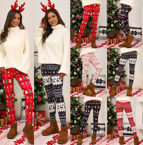 Fashion Women Pants Slim Christmas Printed Tight Trousers Multi-Color Pencli Pants Ladies Sexy Hot Leggings Plus Size New