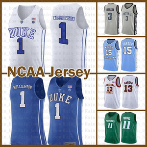 Duke Blue Devils NCAA Zion 1 Williamson Stephen 30 Curry Irving College Dwyane 3 Wade Basketball Jersey LeBron 23 James Leonard Gary Payton