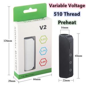 Min.1set 510 fil de la batterie variable Tension 3.0-4.2V Vape Mod Préchauffez Vape batterie 450mAh Vaporizer Imini Pour huile épaisse Vape cartouches
