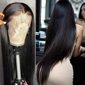 Wigirl 28 30 pouces droit brésilien Glueless Frontal 13x4 Lace Front perruques de cheveux humains Pré plumé Vierge Cheveux pour les femmes