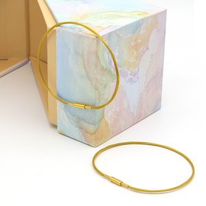 Designer Einfache Titanium Gold-Draht-Armband String Fashion Edelstahl Xuan zhuan kou Hand Linie Wear Glücksperlen Ornament-Armband