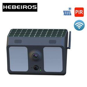 Hebeiros HD 1080P Solar Battery Floodlight Camera Outdoor Waterproof IP Camera LED Lamp Security Surveillance CCTV Wifi