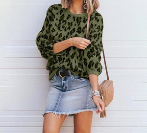 Leopard Print Knitting Sweaters Fashion Female Clothing 2020 Womens Designer Luxury Sweater Autumn Winter Lantern77