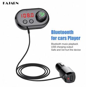 Cargador USB Reproductor de Audio Adapter KAJARN Car MP3 Player Radio Car Kit manos libres inalámbrico Bluetooth FM Transmitte cable aux EB15 #