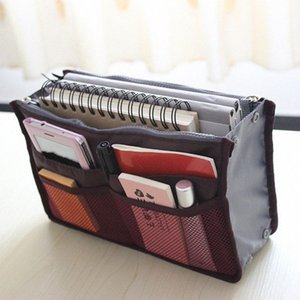 Wholesale- High Quality Cosmetic Bags Insert Handbag Organiser Purse Large liner Tidy Organizer Bag Portable Travel Make Up Bags for W C7cU#