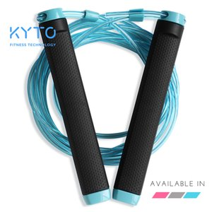 KYTO Jump Rope Crossfit Skipping Rope Adjustable 3M Training Cable With Bearing Steel Wire Loss Weight Speed Boxing MMA