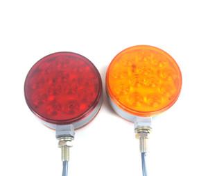 YI-LAN 1pair 12v / 24V красный желтый Double Face 24 / 48LED боковой габаритный свет Стоп наутек сигнал огни лампы для грузовиков