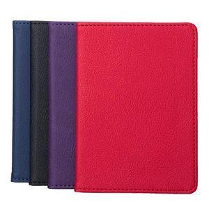 Solid Color Portable Travel Faux Leather Passport Ticket Holder Card Storage Bag Unisex Card Case Man Holder